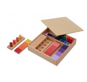 Boîte de dégradés de couleurs (en hêtre)