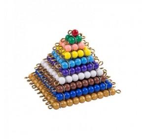 Carrés de perles colorées