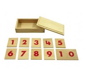 Cartes des chiffres 1 à 10 en bois