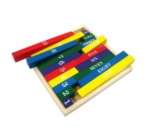 Barres des nombres colorées