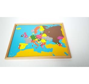 Puzzle carte Europe en bois