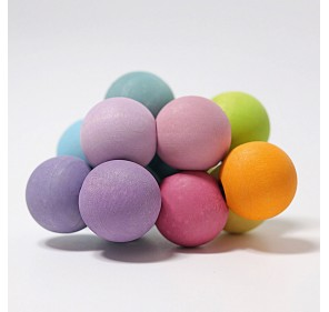Hochet perles tons pastels