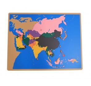 Puzzle carte Asie en bois