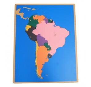 Puzzle carte Amérique du...
