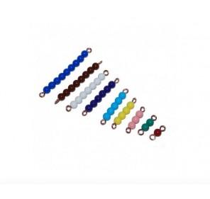Barrettes de perles 1-9