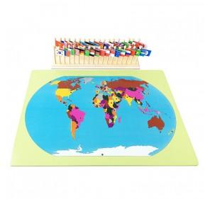 Puzzle drapeaux du monde