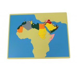 Puzzle carte Monde Arabe en...