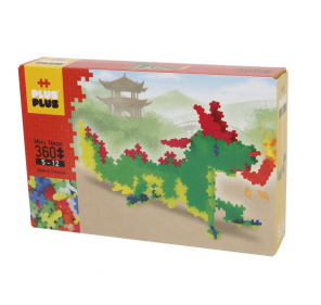 Plus-Plus Box Mini Néon 360 pcs - Dragon