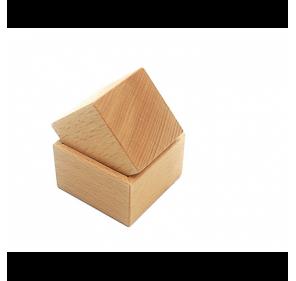 Cube et support (en hêtre)