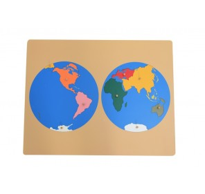 Puzzle planisphère en bois