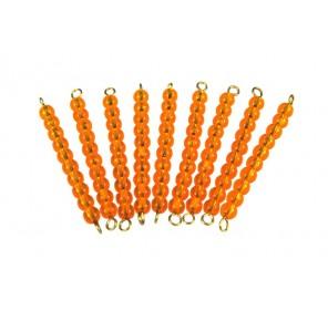 10 barrettes de perles dorées des dizaines