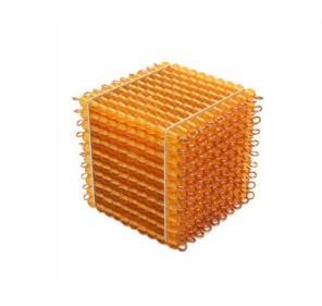 Cube de 1000 perles dorées
