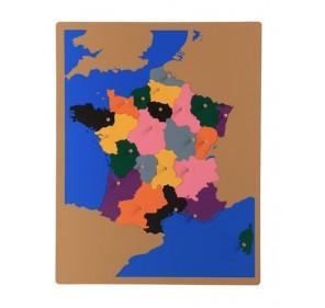 Puzzle carte France en bois