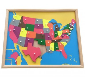 Puzzle carte Etats-Unis en...