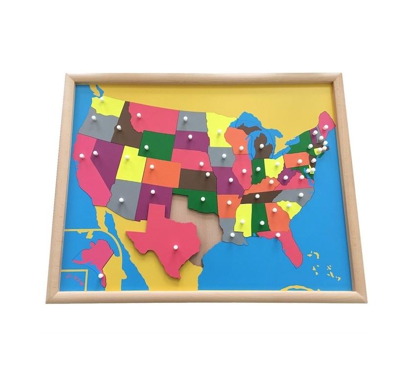 Carte Etats Unis Damerique.Puzzle Carte Etats Unis En Bois