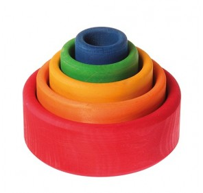 5 bols colorés - arc en ciel