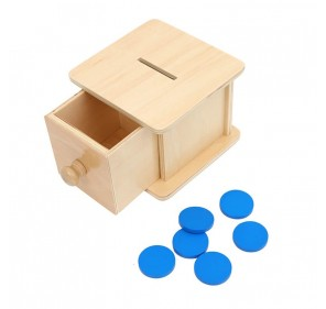 Boîte à tiroir avec pièces...